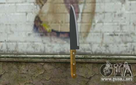 Cuchillo de cocina para GTA San Andreas segunda pantalla