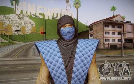 Clásico de Sub Zero из MK9 DLC para GTA San Andreas tercera pantalla