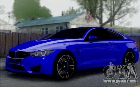 BMW M4 para la visión correcta GTA San Andreas