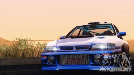 Subaru Impreza 22B STi 1998 para GTA San Andreas vista hacia atrás
