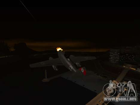 Messerschmitt Me.262 Schwalbe para GTA San Andreas vista posterior izquierda