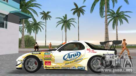 Mazda RX7 FD3S RE Amamiya Arial para GTA Vice City vista lateral izquierdo