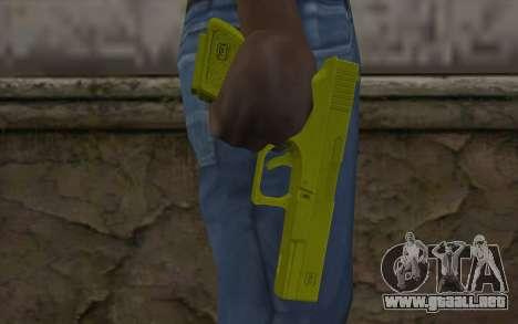 Golden Glock 18C para GTA San Andreas tercera pantalla