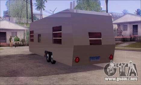 La Caravana De Remolque para GTA San Andreas left