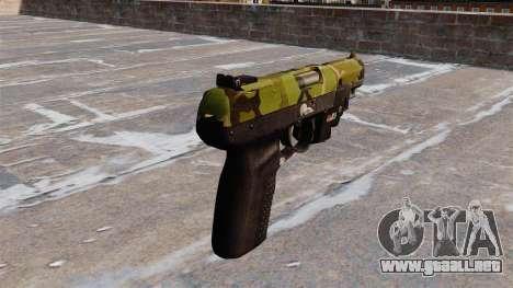 Pistola FN Five seveN LAM Woodland para GTA 4 segundos de pantalla