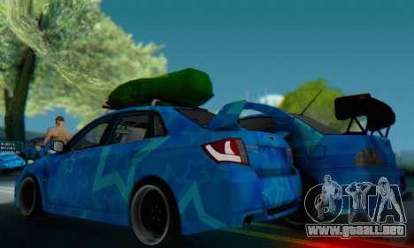Subaru Impreza Blue Star para la visión correcta GTA San Andreas