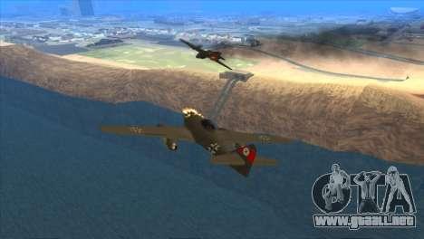 Messerschmitt Me.262 Schwalbe para la visión correcta GTA San Andreas