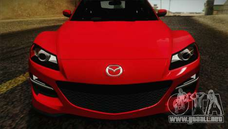 Mazda RX-8 Spirit R 2012 para GTA San Andreas vista hacia atrás
