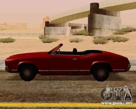 Sabre Convertible para GTA San Andreas left