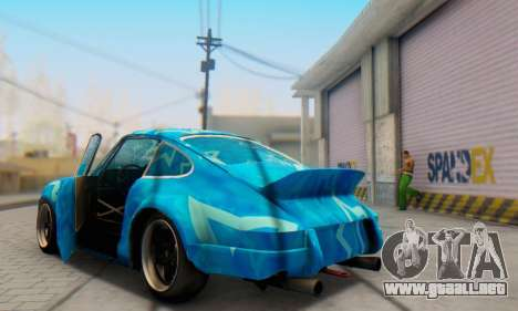 Porsche 911 Blue Star para vista lateral GTA San Andreas