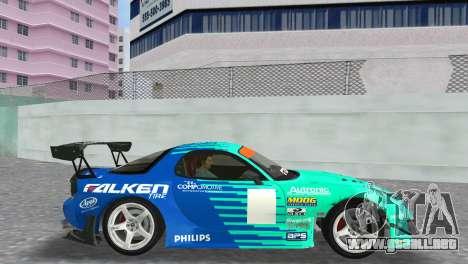 Mazda RX7 FD3S RE Amamiya Falken para GTA Vice City visión correcta