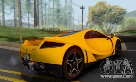 GTA Spano 2014 IVF para GTA San Andreas vista hacia atrás
