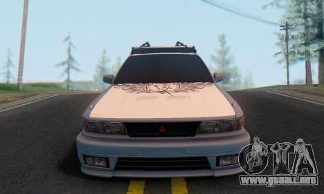 Mitsubishi Galant Generation Rock 1992 para GTA San Andreas vista hacia atrás