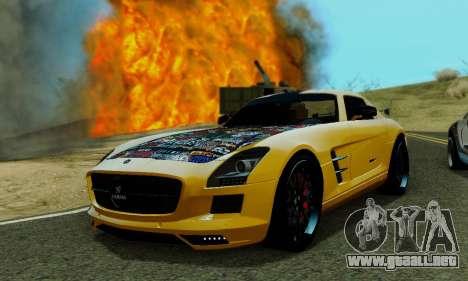 Mercedes SLS AMG Hamann 2010 Metal Style para visión interna GTA San Andreas