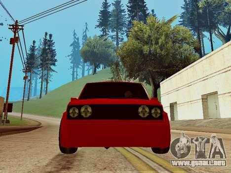 Club Sport para GTA San Andreas vista posterior izquierda