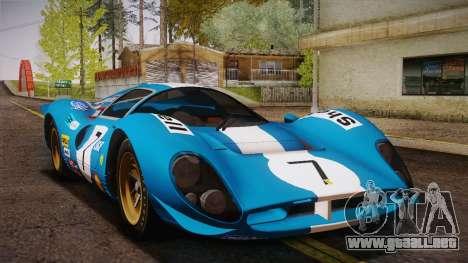 Ferrari 330 P4 1967 IVF para el motor de GTA San Andreas