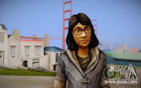 Sarah из The Walking Dead para GTA San Andreas tercera pantalla