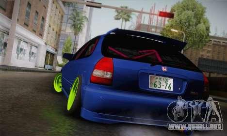 Honda Civic EK9 2000 Hellflush para GTA San Andreas left