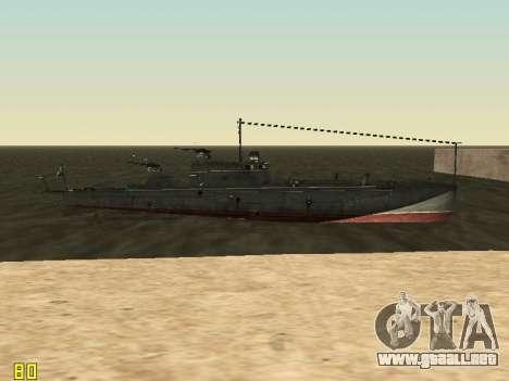 Bote Torpedo tipo G-5 para la vista superior GTA San Andreas