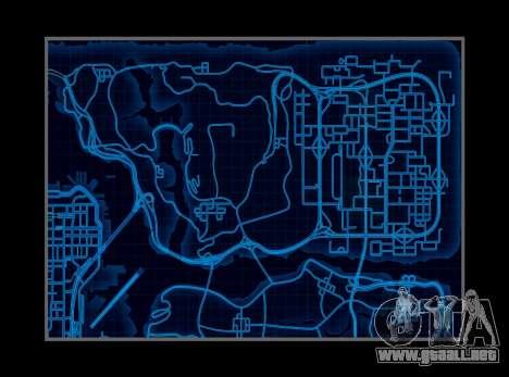 Mapa estilo de need For Speed World para GTA San Andreas segunda pantalla