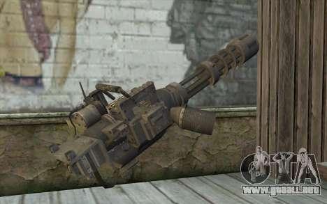 Nueva Minigun para GTA San Andreas segunda pantalla