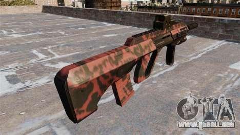 Máquina Steyr AUG-A3 tigre Rojo para GTA 4 segundos de pantalla