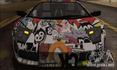 Lamborghini Murcielago 2005 Mismas Ediciones de  para GTA San Andreas vista hacia atrás