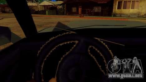 La rotación de la rueda de los coches estándar para GTA San Andreas tercera pantalla