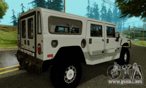 Hummer H1 Alpha para vista inferior GTA San Andreas