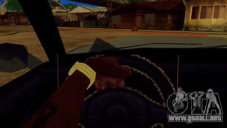 La rotación de la rueda de los coches estándar para GTA San Andreas sucesivamente de pantalla