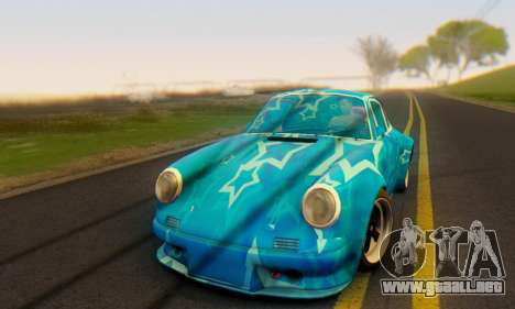 Porsche 911 Blue Star para GTA San Andreas left
