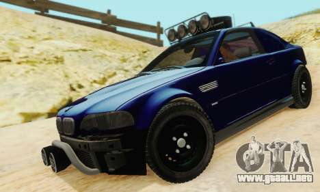 BMW M3 E46 Offroad Version para vista lateral GTA San Andreas