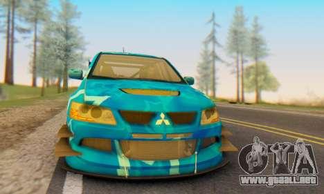 Mitsubishi Lancer Evolution IIIX Blue Star para la visión correcta GTA San Andreas