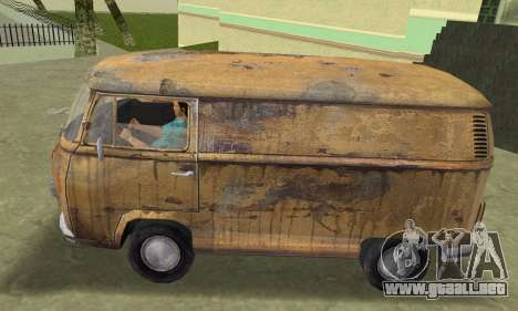 Volkswagen T2 Super Rust para GTA Vice City vista lateral izquierdo