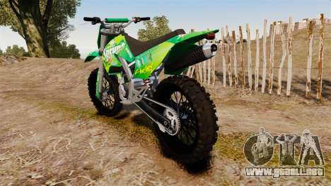 GTA V Maibatsu Sanchez wheels v1 para GTA 4 Vista posterior izquierda