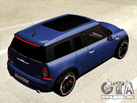 Mini Cooper Clubman JCW para visión interna GTA San Andreas