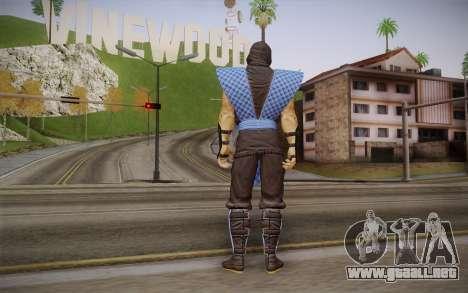 Clásico de Sub Zero из MK9 DLC para GTA San Andreas segunda pantalla