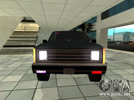 SWAT Original Cruiser para GTA San Andreas vista hacia atrás