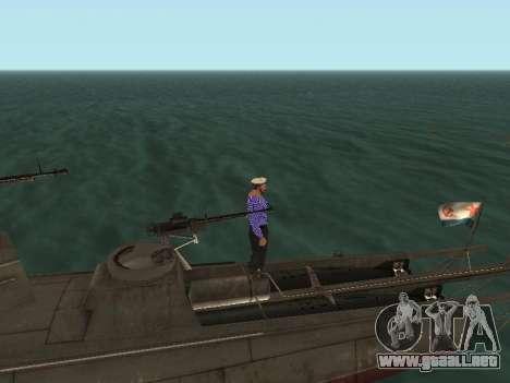 Bote Torpedo tipo G-5 para GTA San Andreas interior