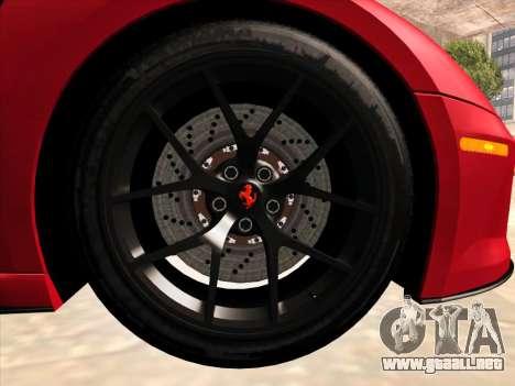 Ferrari 599 GTO para visión interna GTA San Andreas