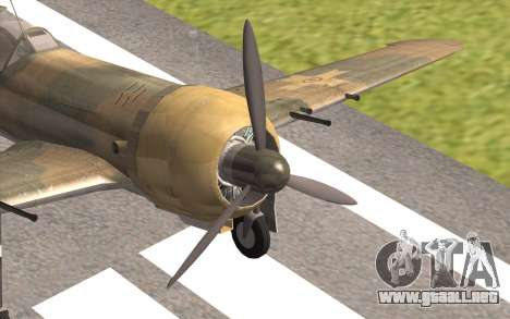 IAR 80 - Romania No 91 para GTA San Andreas vista hacia atrás