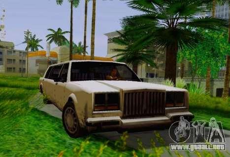 Greenwood Limousine para la visión correcta GTA San Andreas