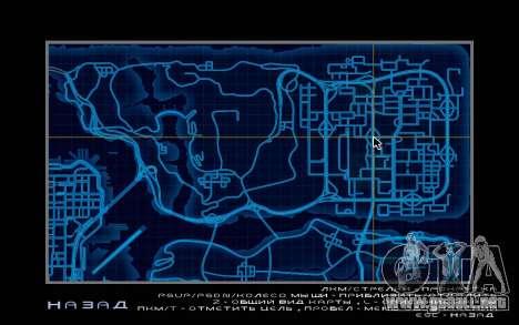 Mapa estilo de need For Speed World para GTA San Andreas quinta pantalla