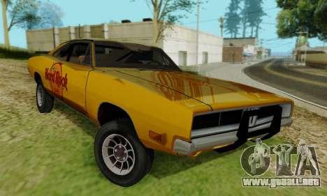 Dodge Charger 1969 Hard Rock Cafe para la visión correcta GTA San Andreas