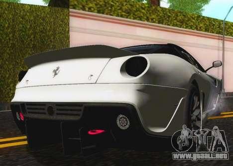 Ferrari 599XX Evolution para visión interna GTA San Andreas
