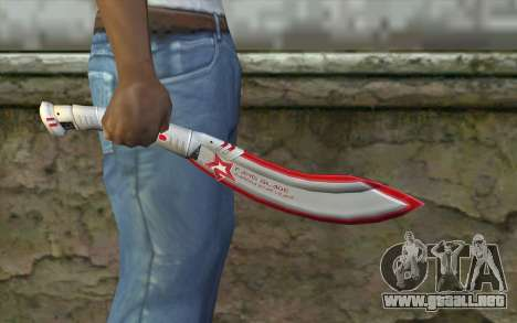 Fangblade Garena Star League from Point Blank para GTA San Andreas tercera pantalla