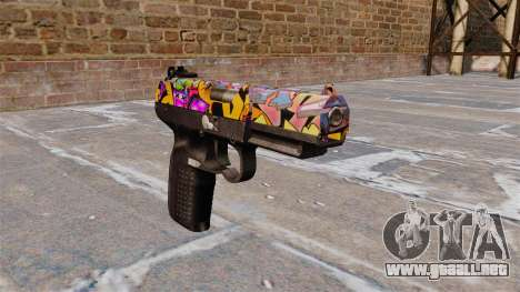 Pistola FN Five seveN Graffiti para GTA 4