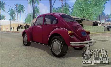 1973 Volkswagen Beetle para GTA San Andreas left