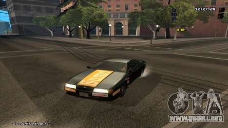 Elegy-Hotring para GTA San Andreas vista posterior izquierda