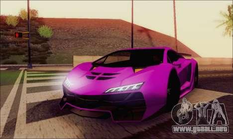 Zentorno GTA 5 V.1 para GTA San Andreas interior